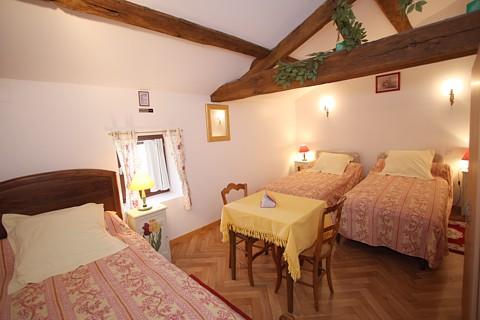 Chambres aux Essarts pour 2 à 3 personnes