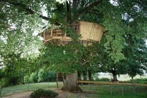 Cabane dans les arbres proche du puy du fou